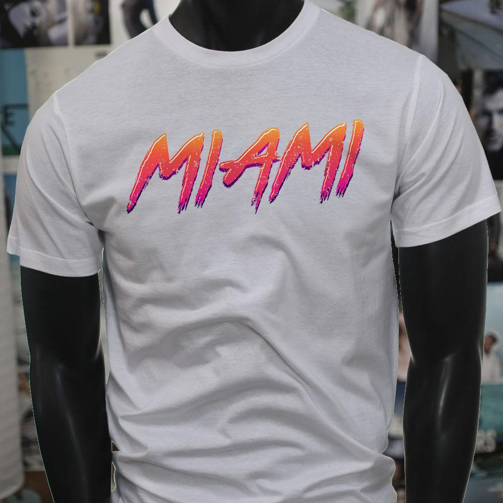 c8a8d97bf RETRO VINTAGE MIAMI BEACH FLORIDA PARTY VACATION Mens White T Shirt Summer  Hot Sale New Tee Print Men T Shirt Top T Shirts Shop Online Of T Shirts  From .