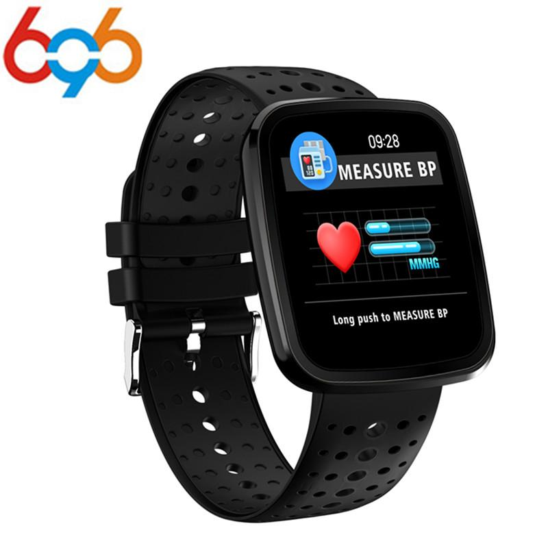 696 Monitor de ritmo cardíaco Color OLED Sports Men Smart Watch Inteligente rastreador de fitness Pulsera inteligente para Android IOS