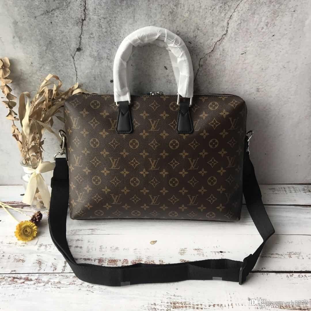 Men's Briefcase, Computer Bag, Handbag, Luxury Fashion, Large Capacity,  Leather Printing, Physical Shooting, Handy Pickup, Model M48224