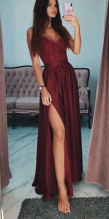 4486feadff86 Vestidos largos de fiesta con tirantes finos y vestidos largos para  ocasiones formales con blusa y vestidos de fiesta personalizados