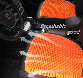 Flexible Silicone car seat four season universal no back slip free tied breathable massage cushion Health Care Pain Release
