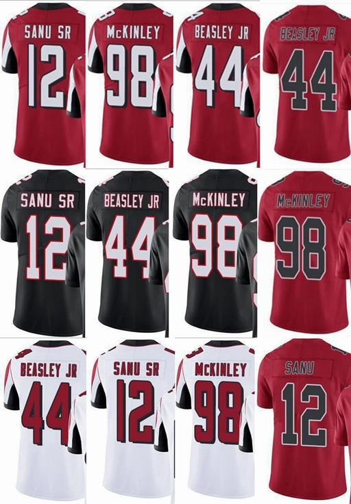 new style 15d42 01d9a # 12 Mohamed Sanu # 44 Vic Beasley # 98 Takkarist McKinley Falcon Hombres  Mujeres Jóvenes Vapor Intocable Color Rush Custom Elite Football Jersey
