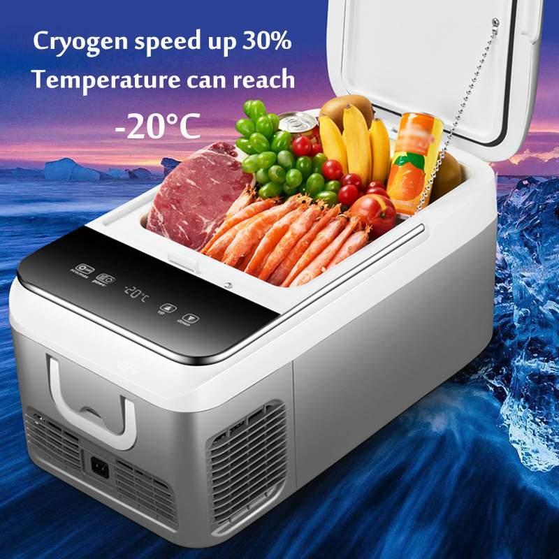 18L DC 12V 240V Car Refrigerator Freezer Cooler Car Fridge Compressor for  Home Picnic Refrigeration Freezer -20~10 Degrees