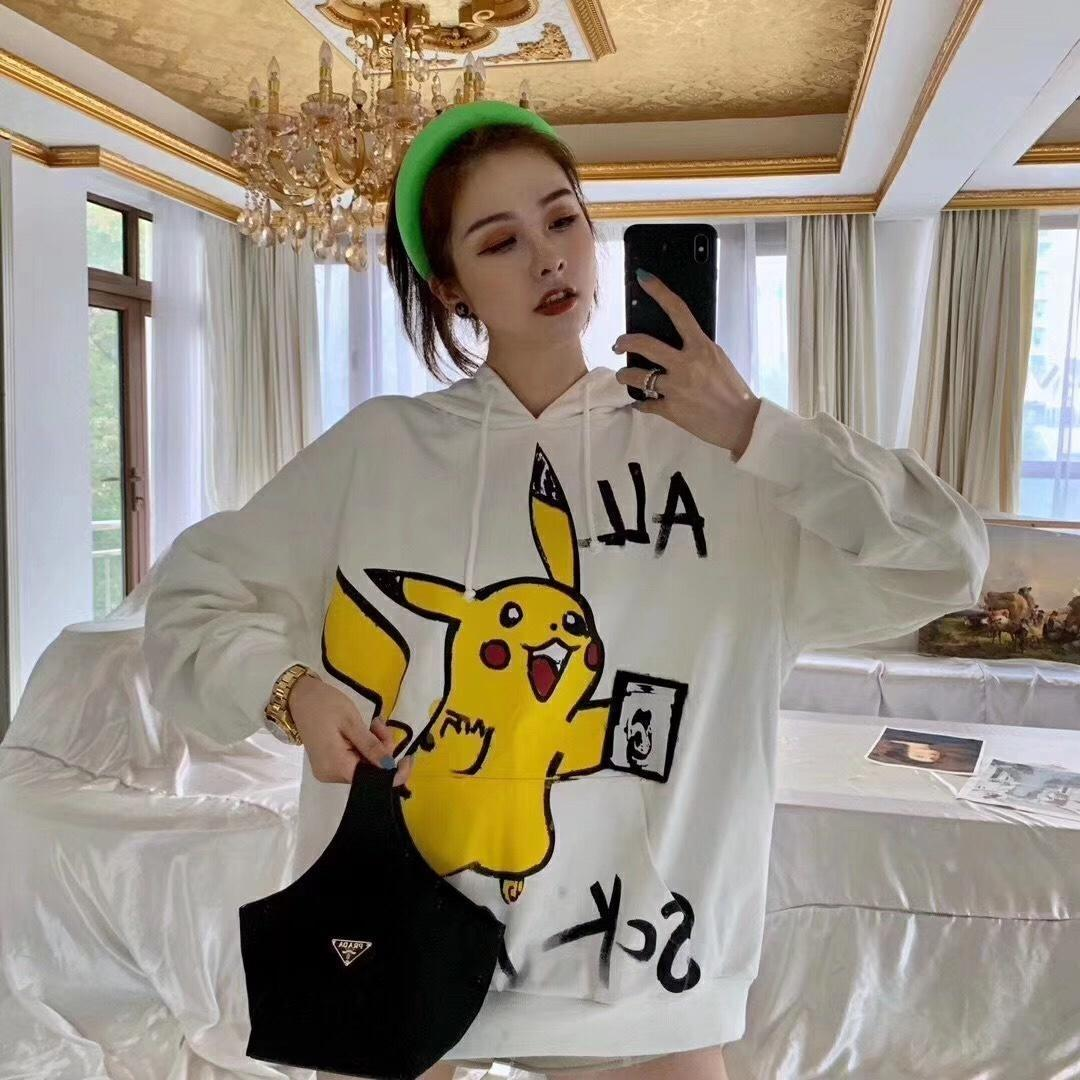 one women clothes new brand white 2019 size Cartoon letter print hoodie Sweatshirt women sweaters T-Shirt women tops Pullover 09-36