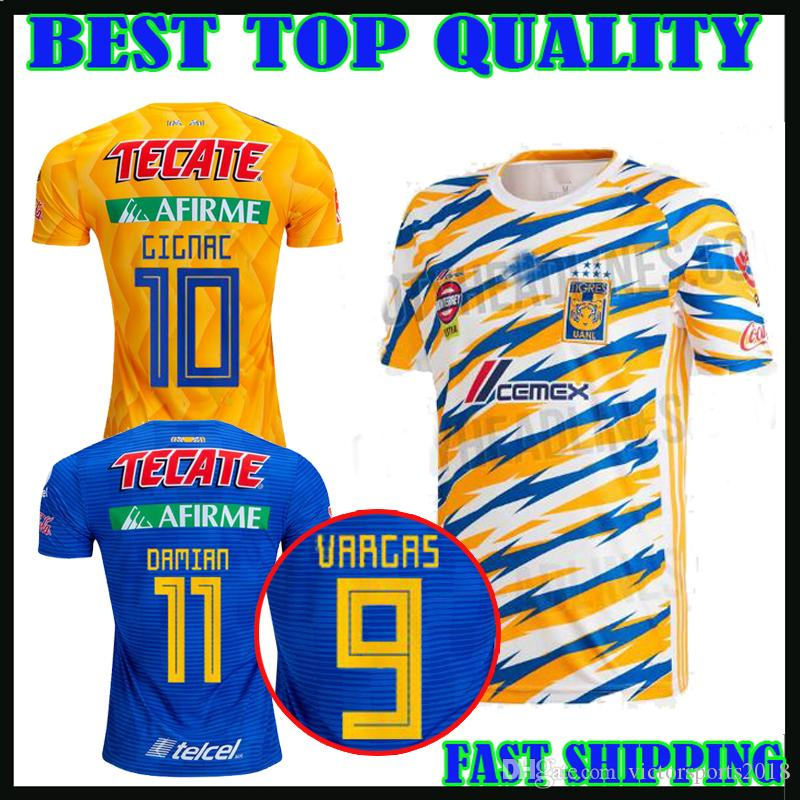 2019 2018 2019 TIGRES UANL SOCCER JERSEY HOME GIGNAC AWAY Third 19 20  Pizarro 18 19 H.AYALA VARGAS DAMIAN AQUINO FOOTBALL SHIRTS Top Quality From  ... 6c53c657a