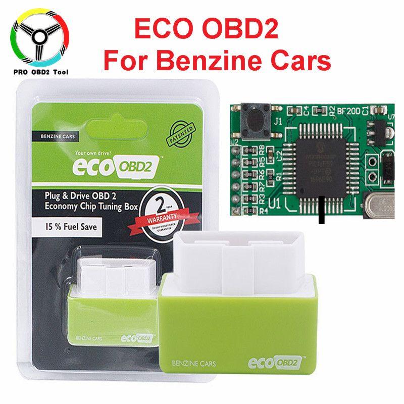 Newest Fuel Save 15% ECO OBD2 & Nitro OBD2 Car Economy Chip Tuning Box Plug  & Drive For Benzine Cars Lower Fuel Lower Emission