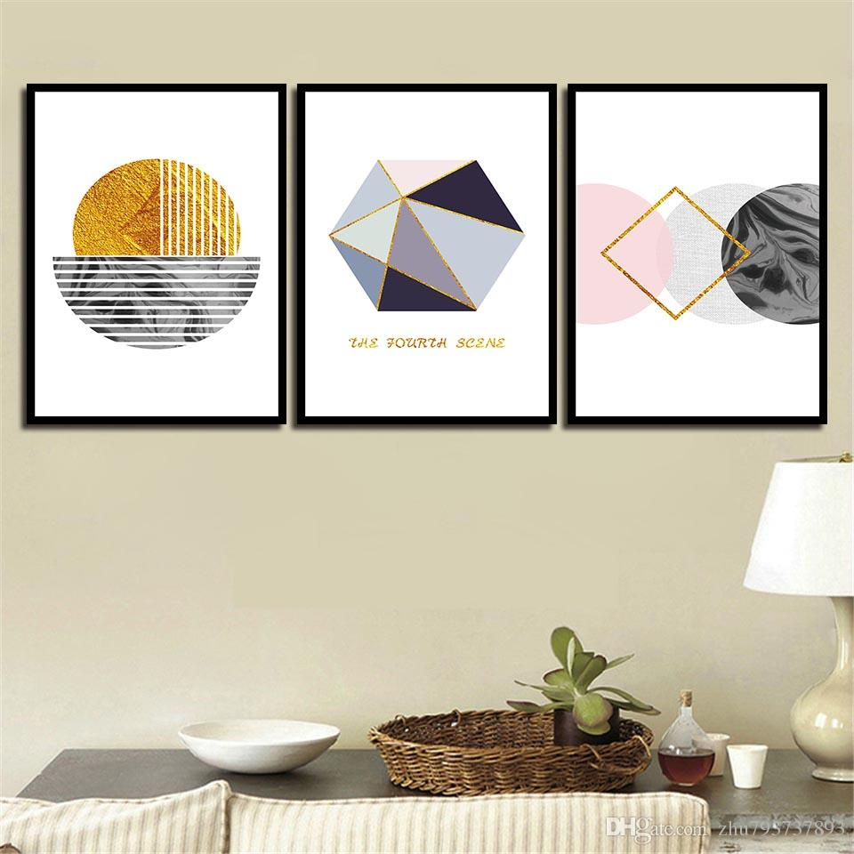 Art HD Print Painting Minimalist Abstract Geometric Figure Nordic Style Canvas Poster Wall Pictures For Home Wedding Decoration