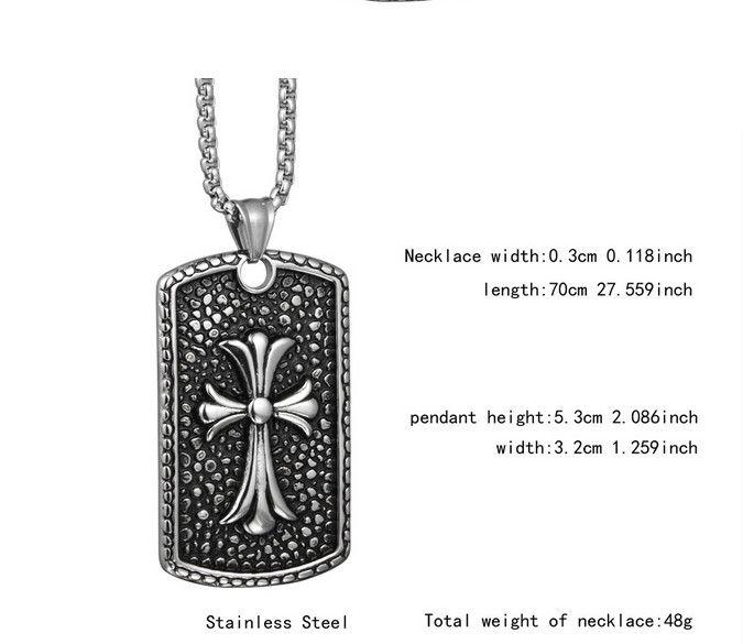 Европейский и американский Ночной магазин хип-хоп Индивидуальный Trend Square титана стали ожерелье украшения 91002D для мужчин и женщин