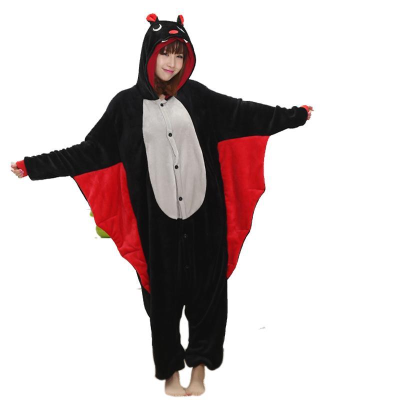 e6581f14a7 Compre Funny Animal Onesie Bat Kigurumi Para Adultos Pijamas Mujeres  Hombres Cosplay Onesies Ropa De Dormir De Una Pieza Pijamas Disfraz De  Halloween Grande ...