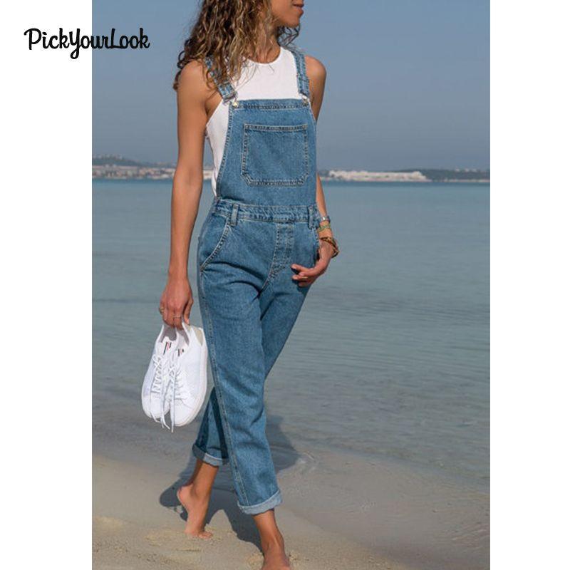 74f5f435544e Großhandel Pickyourlook Frauen Jumpsuit Damen Denim Blus Lady ...