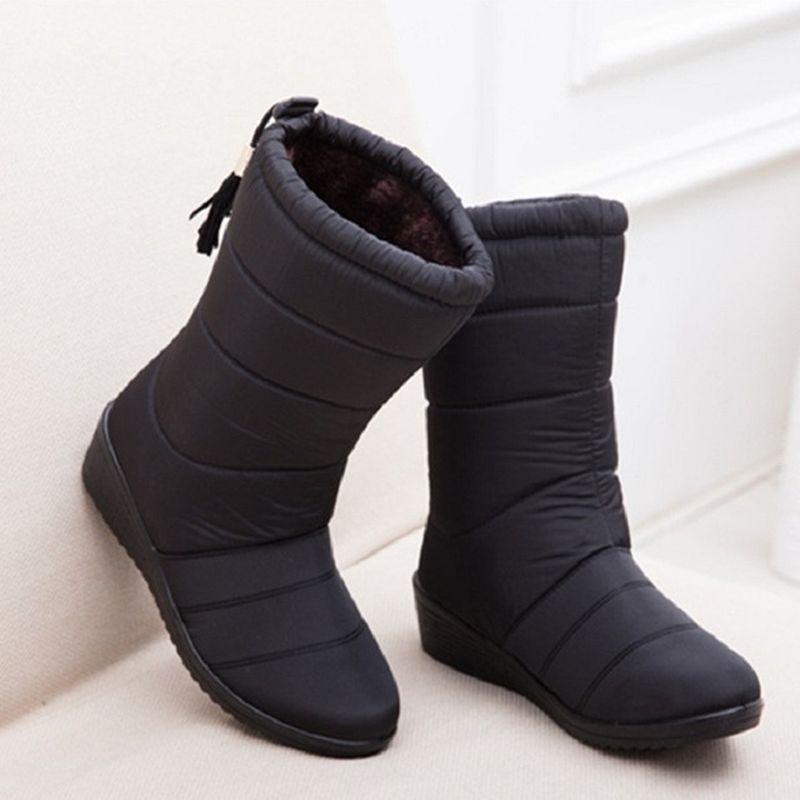e9dffd077 Compre NUEVAS Botas De Mujer Botas De Mujer De Invierno Botas Impermeables  Calientes Niñas Tobillo Mujer Zapatos De Nieve Mujer Botas De Piel Caliente  Mujer ...