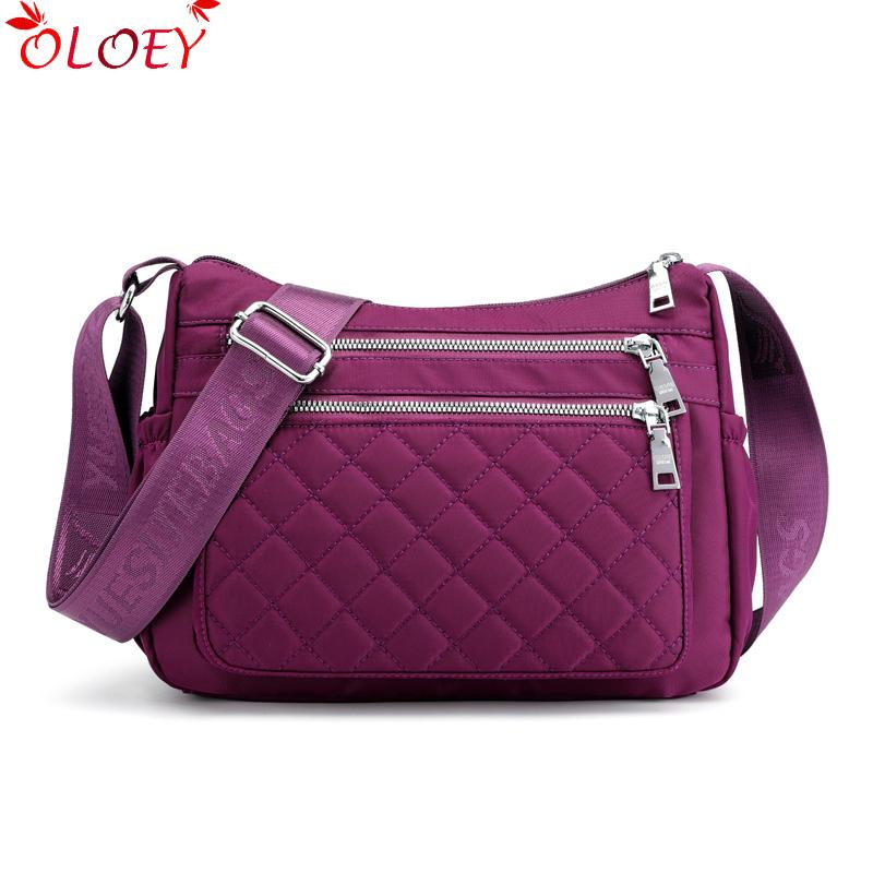 333ff0c7580 2019 New Fashion Waterproof Nylon Brand Women Shoulder Bags High Quality  Crossbody Bag For Women Casual Thread Messenger Bags Weekend Bags Luxury  Bags From ...