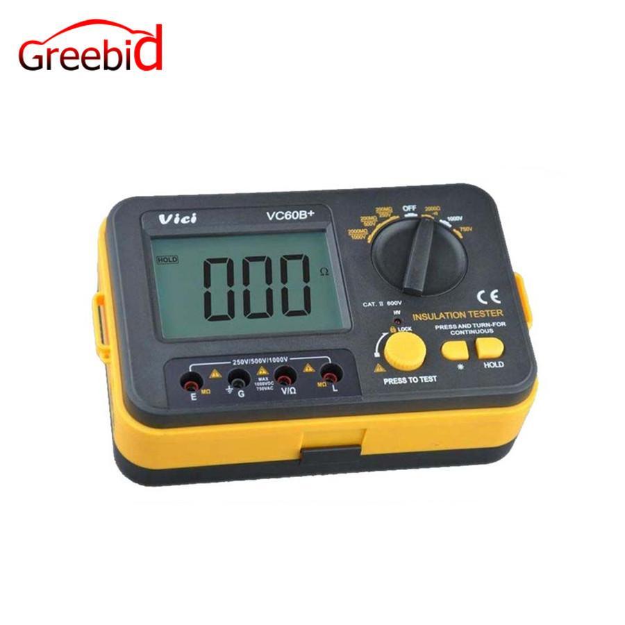 VC60B+ Digital Insulation Resistance Tester Megger MegOhmmeter Meter VICHY  VC60B+ Multimeter
