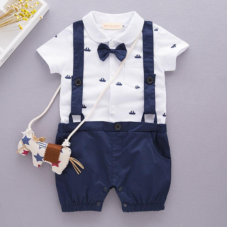 CrossBorder Childrens Clothes Babys Clothes Summer Boys Babys Shortsleeved Climbing Suit
