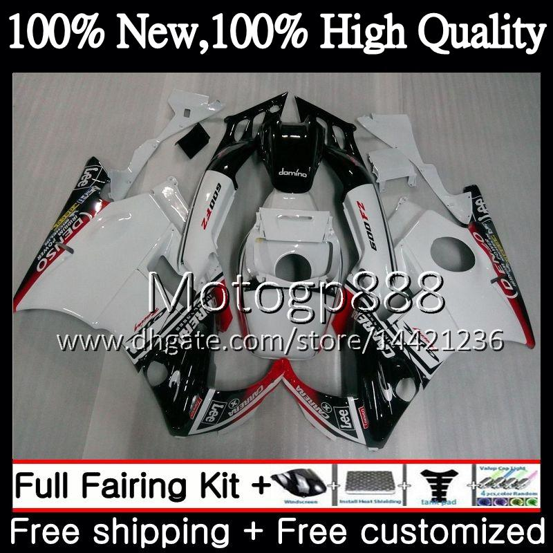 Honda CBR 600F2 FS CBR600 F2 91 92 93 94 AAPG17 CBR600FS CBR 600 F2 CBR600F2 1991 1992 1993 1994 Black White Fairing Bodywork