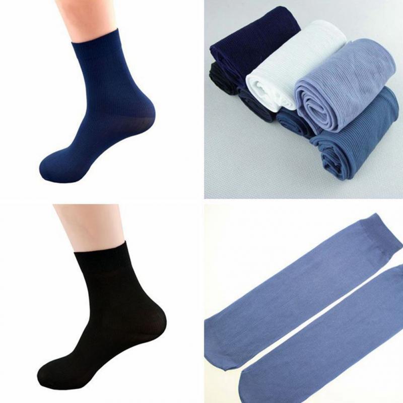 0d6e62f9b3b 1 Ankle Men Fiber Ultra-thin Elastic Silky Short Silk Stockings Men ...