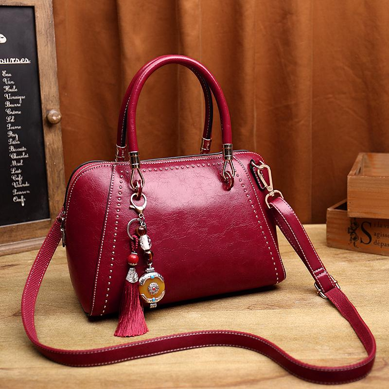 e03d0d7ec9b Vintage Retro Genuine Leather Women Shoulder Bags Famous Brands Handbag  Female Alligator Bag Ladies Real Cow Leather Satchel T55