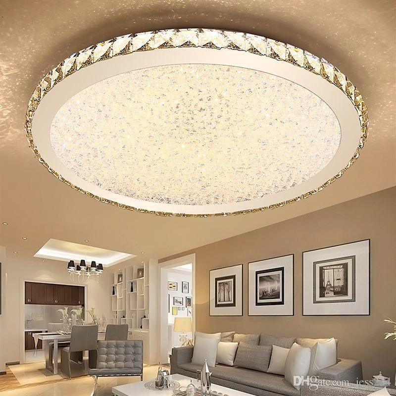 2019 JESS Modern K9 Crystal LED Flush Mount Ceiling Lights Fixture Mixed  Crystal Home Ceiling Lamps For Living Room Bedroom Kitchen From Jess234, ...