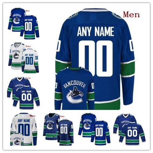 0112eb1b83b 2019 Custom Vancouver Canucks Brock Boeser Bo Horvat Henrik Sedin Sven  Baertschi Any Name Any Number Mens Women Youth Stitched Jersey From  Hellomicki, ...
