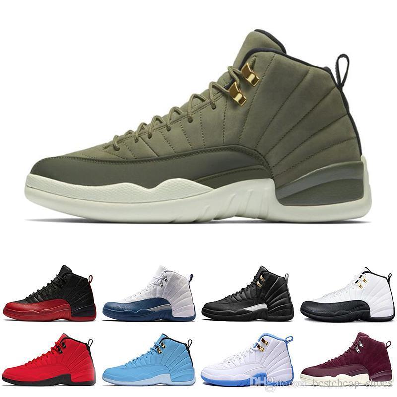 sports shoes 46598 2ee27 Acheter Nike Air Jordan Jordans Retro 12 2019 Nouveau Michigan Rétro Hommes  Chaussures De Basketball 12 Vol International Gris Foncé Jeu De La Grippe  12s ...