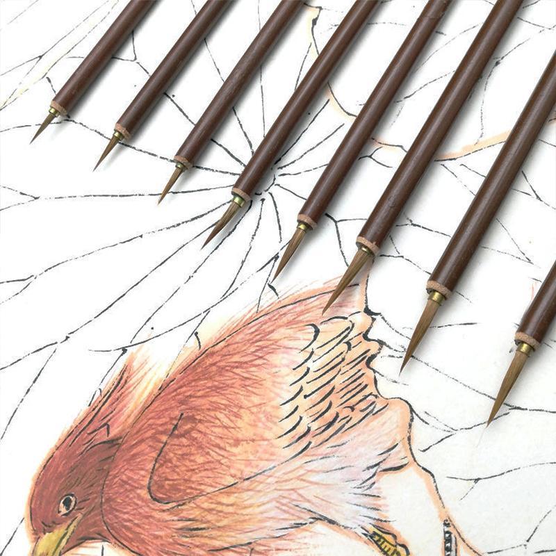 Metal head Hook Line Fine Paint Brush Chinese Calligraphy Brush Pen Paint Brush Art Stationary Oil Painting X