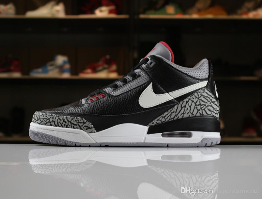 classic 3f936 a0961 178 Aair 1 JORDAN 3 3s men men Basketball Shoes Tinker Korea JTH Pure white  Black Cement Flight Sport Sneakers AIR 77