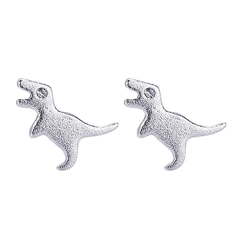 6de341f1c 2019 925 Solid Sterling Silver Piercing Animal Dinosaur Stud Earrings For  Women Girls Wedding Party Gift Femme Jewelry Eh1030 From Grandliu, $34.9 |  DHgate.