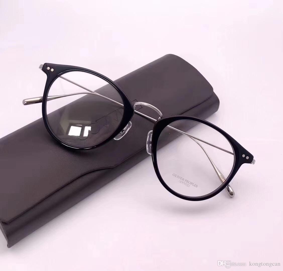 b61405ecf64 2019 Vintage Retro Oliver Peoples Eyeglasses Pure Titanium Deckens Acetate  Frame Women Man Brand Design Original Box And Case Prescription Lens From  ...