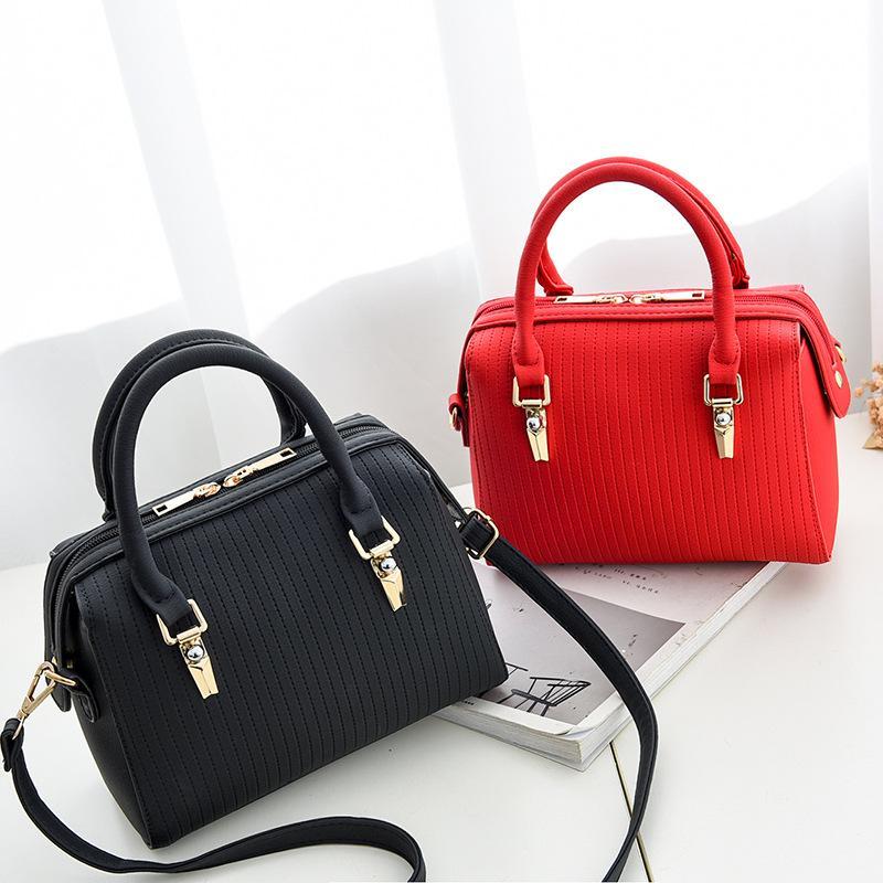 55e7f9ff69b3 New Fashion Women s Handbags Solid Color PU Designer Totes Bag Large ...