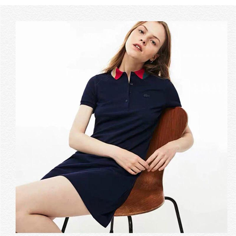 5faef900a Women Brand Polo Dresses Fashion Women s Casual Dresses Women Designer  Polos Shirt Short Sleeve Slim Dress Ladies Brand Sport Dress