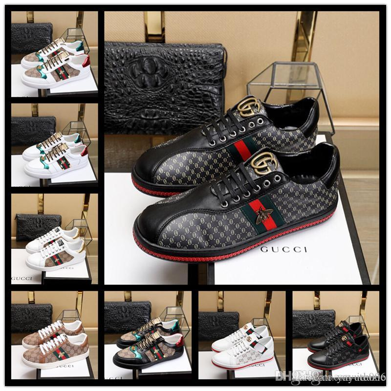 990b718febf Wholesale Men Women Sneakers Loafers Brand Embroidery Small Bee Tiger Head  Snake Casual Flat Shoes Unisex Zapatos Trainers 38 44 Black Shoes Wholesale  Shoes ...