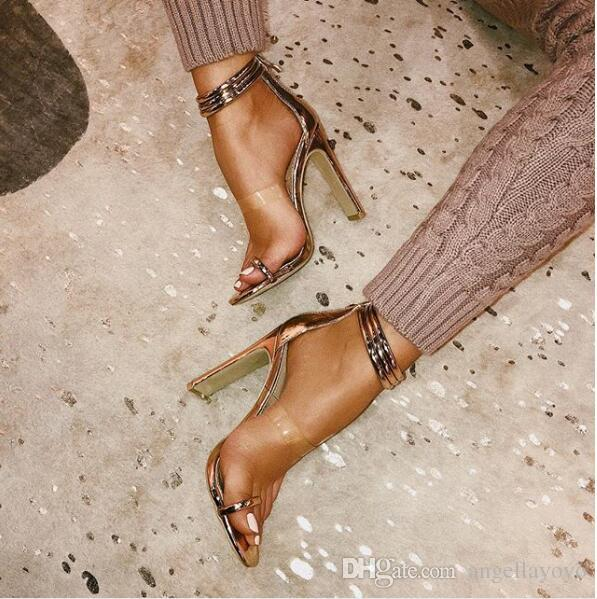Summer Fashion Women Sandalias Mujer Ankle Buckle Strap Sexy 9CM High Heels Sandals Gladiator Pumps High Shoe