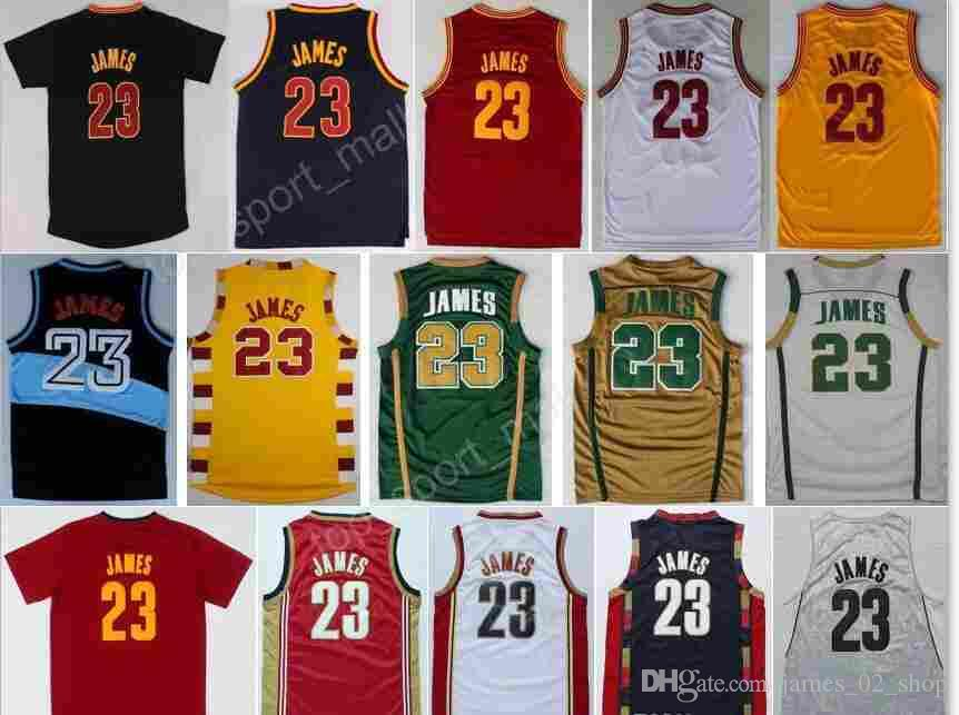 new arrival a2aa4 d3958 In stock sale 2016 2018 men 23 LeBronJames shirts football 100% Stitched 23  College Jerseys ClevelandCavaliers High School Jersey SIZE S-XXL