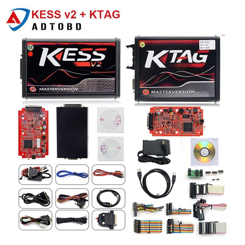 2018 Ktag K TAG V7 020 KESS V2 V5 017 SW V2 23 v2 47 2 47 Master ECU Chip  Tuning Tool K-TAG 7 020 Online Better KTAG V7 003