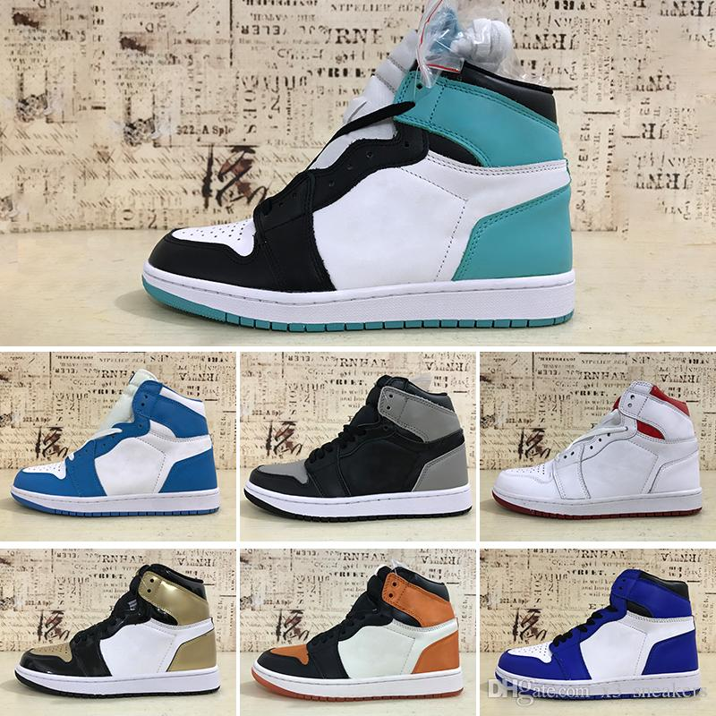 30e97013257 1s High OG Pine Green Court Purple 1 Shadow Blue Moon Basketball Shoes NRG  Gold Toe Bg Gs Bred Toe Game Royal Sports Shoes Free Shippment Basketballs  Shoes ...