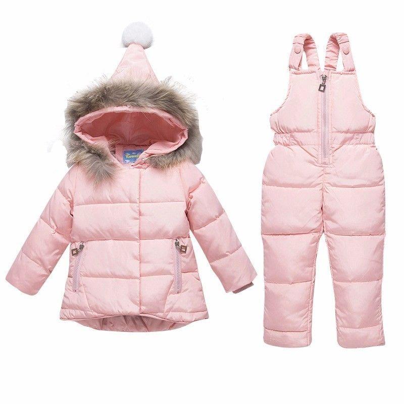 2c96acbe0fed 2019 Children Down Jacket Baby Girl Boy Ski Suit Clothes Sets Winter Warm  Hooded Newborn Infant Snow 90% White Duck Velvet Girls Winter Down Coats  Down ...