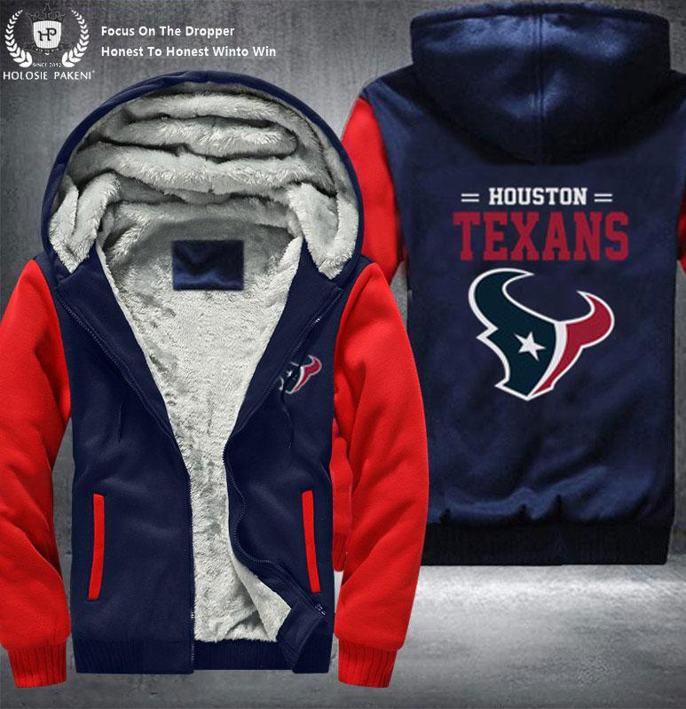 9416d035 2019 Dropshipping USA Size Unisex Men Texans Zipper Hoodie Winter Fleece  Thicken Jacket Costume Made From Radishu, $60.35   DHgate.Com
