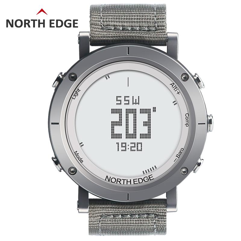 NORTHEDGE digital watches Men sports watch clock heart rate Weather  Altimeter Barometer Thermometer Compass hiking hours