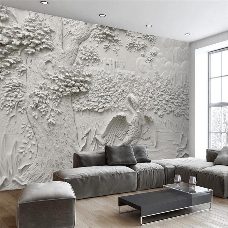 Großhandel Benutzerdefinierte Moderne Tapeten Wohnzimmer Hintergrund ...