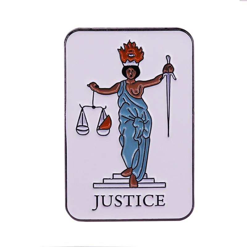 2020 Tarot Card Justice Pin Unique Divination Gifts