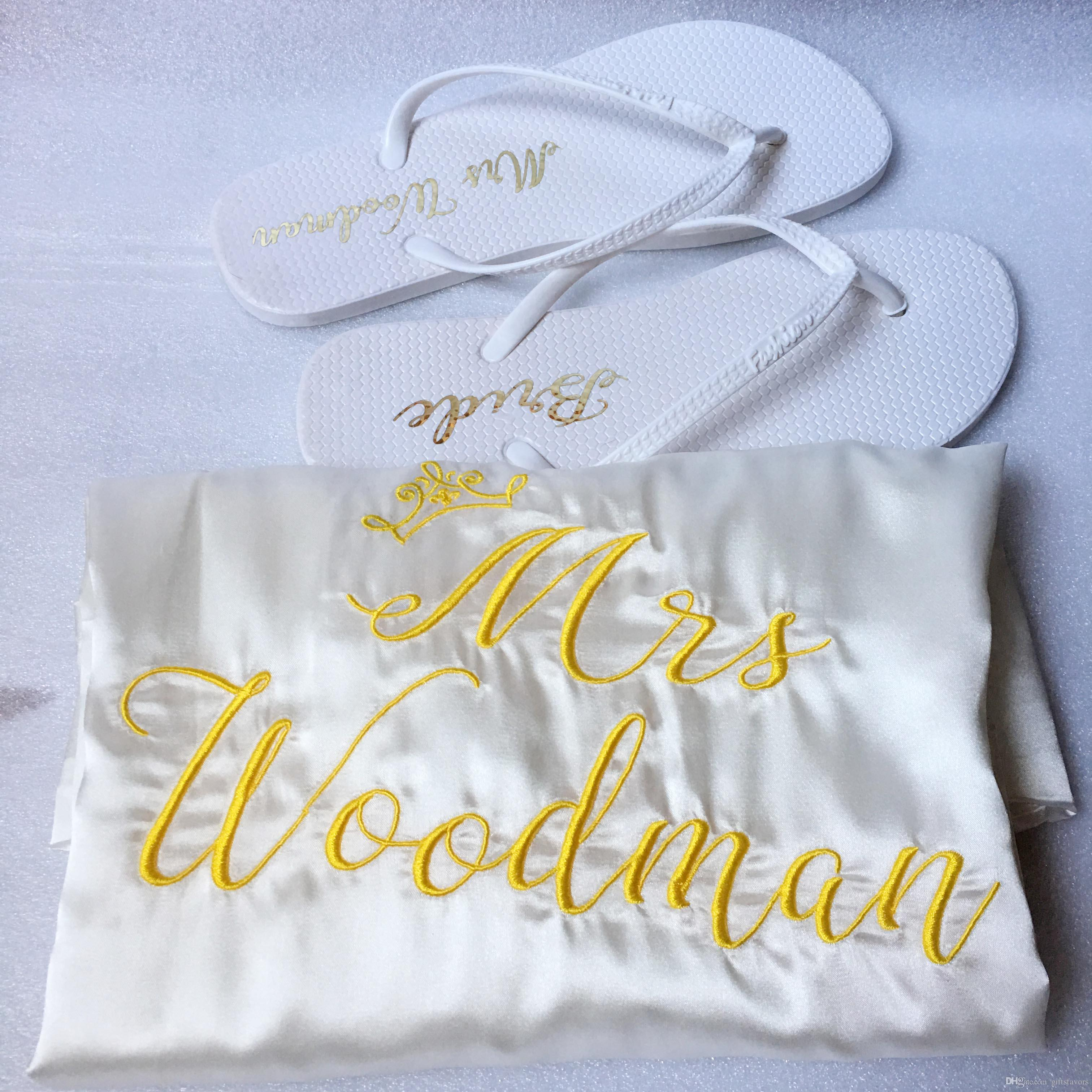 Personalized Satin Robes Kimono Bridesmaid Gifts Wedding Bridal