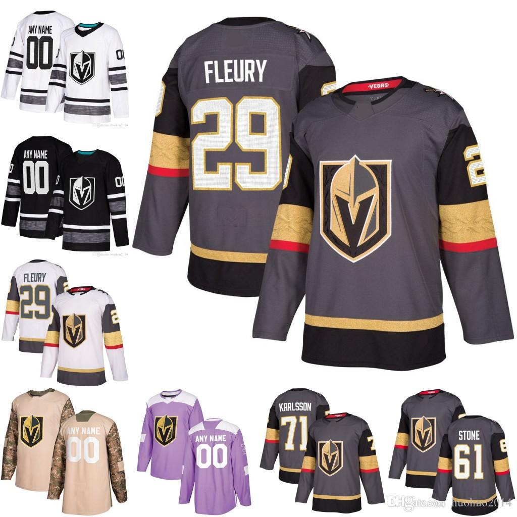 huge discount 52fa1 71c03 29 Marc-Andre Fleury Vegas Golden Knights 61 Mark Stone 30 Malcolm Subban  81 Jonathan Marchessault 89 Alex Tuch 71 William Karlsson Jersey