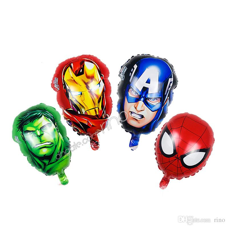 The avenger balloons kids inflatable marvel birthday party ballons decorations supplies Iron Man Captain America helium foil balloon toys