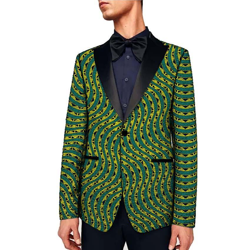 1f53f29daa Compre Roupas Africanas Dos Homens Formais Blazers De Impressão Slim Fit  Ankara Moda Terno Casacos Personalizados Para O Casamento Desgaste Masculino  Casaco ...