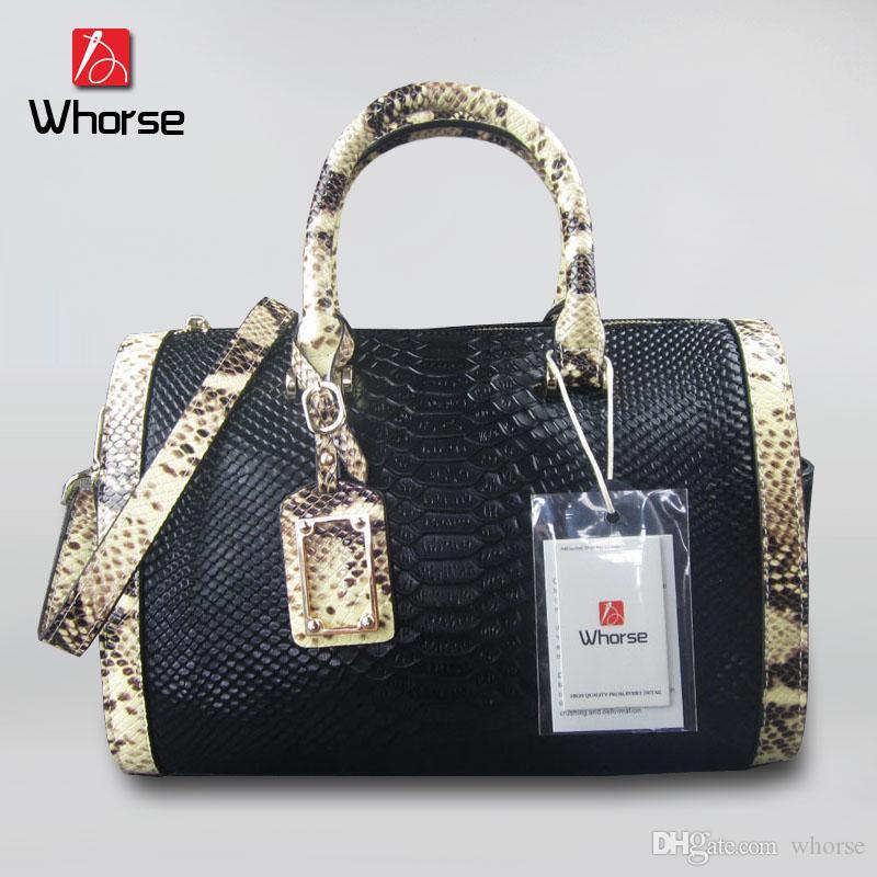 3a1dc55fab Brand Luxury Serpentine Handbag Genuine Leather Women Crocodile Satchel  Shoulder Crossbody Messenger Bags For Lady Snake Skin Bag W04970 Handbags  For Women ...