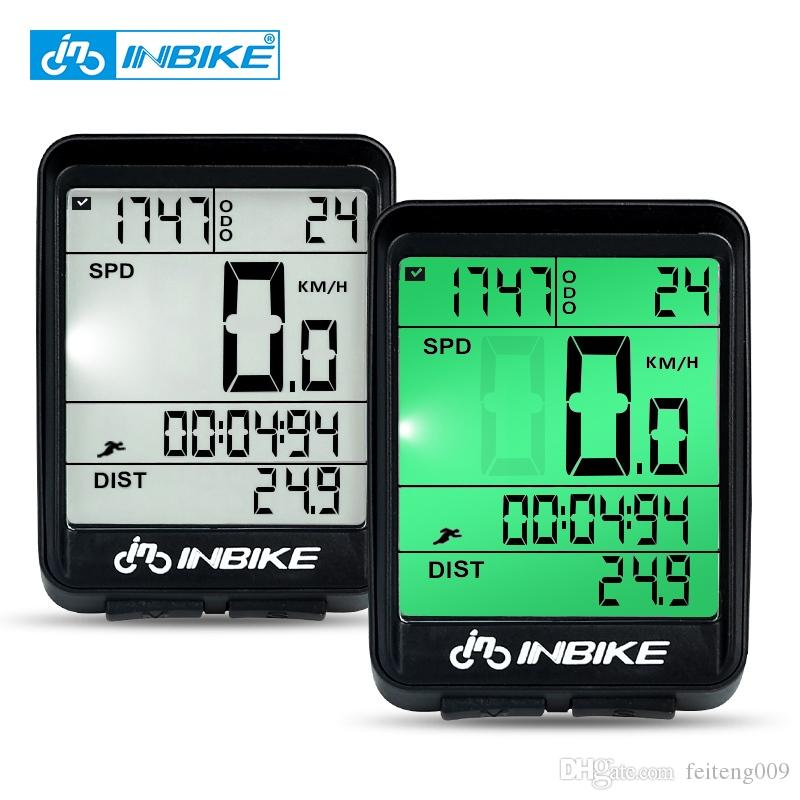 6090603c4 INBIKE Impermeable Bicicleta Ordenador Inalámbrico MTB Bicicleta Ciclismo  Odómetro Rainproof Cronómetro Velocímetro Reloj LED Digital Rate # 24022  Por ...
