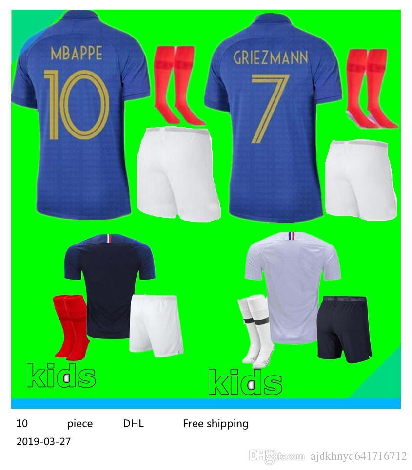100 years 100th kids boy kit pogba soccer Jersey 1919 2019 PAYET DEMBELE  MBAPPE GRIEZMANN KANTE football shirts COMAN AWAY kit