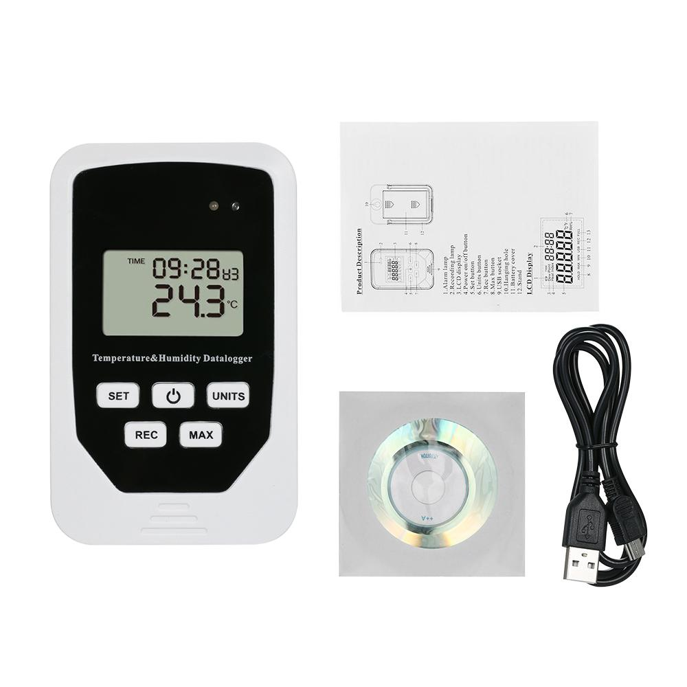 Mini Usb Humidity Temperature Data Thermometer Hygrometerlogger Rh Led For Measurement Temp Datalogger Recorder Humiture Recording Meter High Quality