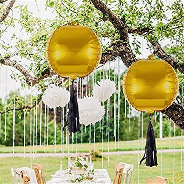 2019 4D Round Foil Balloons Lantern Shape Rose Gold Silver Balloon Party Decoration Birthday Baby Shower From Magicalparty