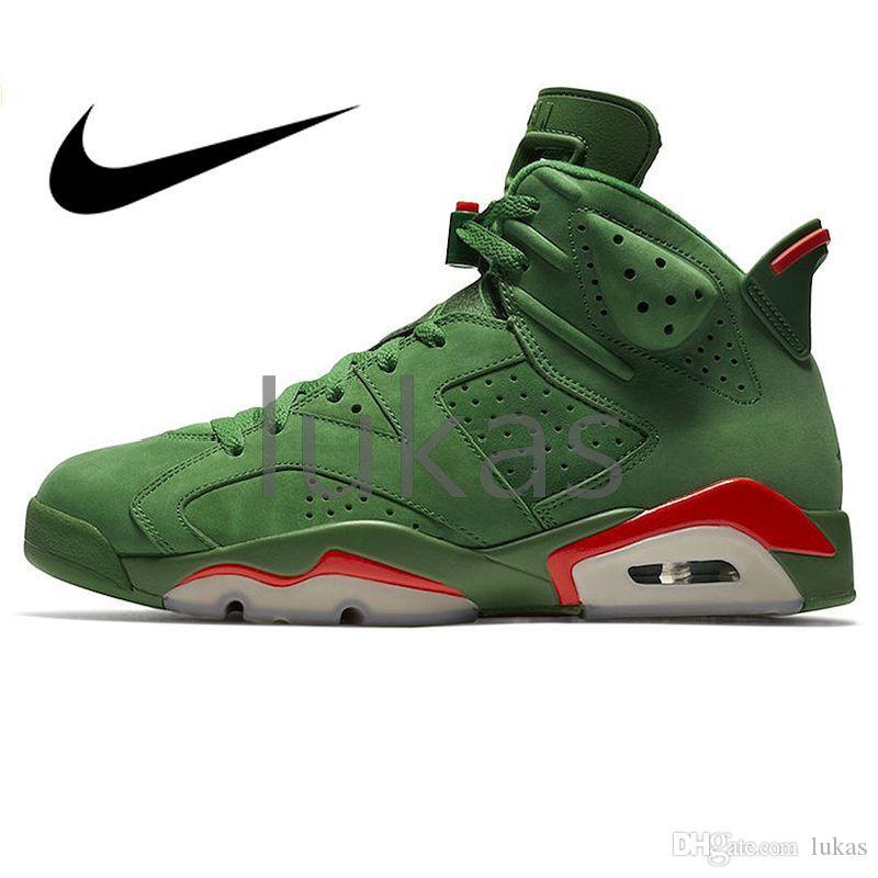 0cda0db95221 2019 Air Jordan 6 Gatorade AJ6 Green Suede Men Women VI 6s Jordans Airs Basketball  Shoes Outdoor Sneakers Athletic Designer Footwear Walking EVA Trainers